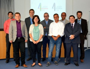 From left to right: Andres Fabian Lasagni (Fraunhofer), Tobias Mertens (Airbus), Andrés Escartín (BSH), Virginia Gotor (BSH), Gert-willem Römer (University of Twente), Giuseppe Carbone (CNR), Antonio Ancona (CNR), Jose Luis Ocaña (UPM) and Thomas Kiedrowski (Bosch)
