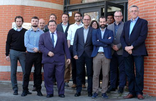 Technical Board (SB) and Supervisory Board (SB) at the first progress meeting, hosted by Centro Laser de la Universidad Politecnica de Madrid (UPM).